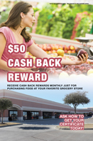 $50 Cash Back - Grocery
